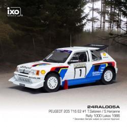 Peugeot 205 T16 E2 5 Rallye des 1000 Lacs 1986 Salonen Harjanne IXO 24RAL005A