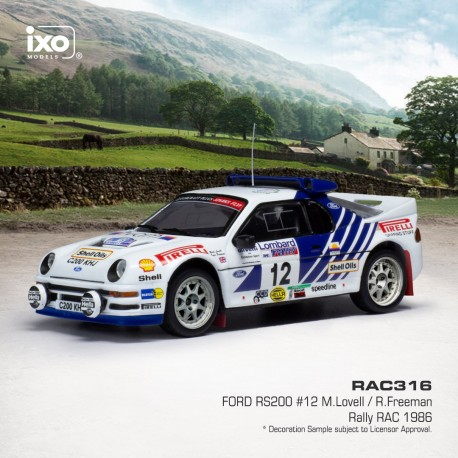 Ford RS200 12 RAC Rally 1986 Lovell - Freeman IXO RAC316