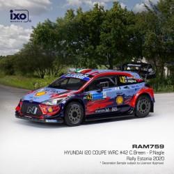 Hyundai i20 Coupe WRC 42 Rallye d'Estonie 2020 C. Breen - P. Nagle IXO RAM759