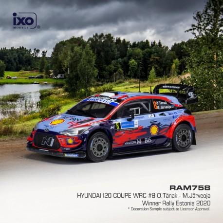 Hyundai i20 Coupe WRC 8 Winner Rallye d'Estonie 2020 Tanak Jarveoja IXO RAM758