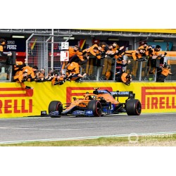 McLaren Mercedes MCL35M 4 F1 3ème Grand Prix d'Emilie Romagne Imola 2021 Lando Norris Spark 18S585