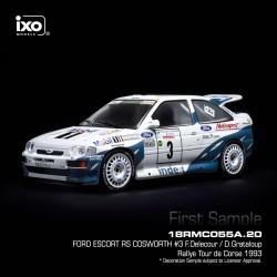 Ford Escort RS Cosworth 3 Rallye Tour de Corse 1993 Delecour - Grataloup IXO 18RMC055A