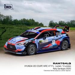 Hyundai i20 Coupe WRC 7 Rallye de Sardaigne 2020 P.-L. Loubet - V. Landais IXO RAM764