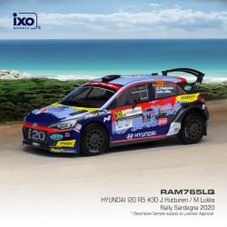 Hyundai i20 R5 30 Rallye de Sardaigne 2020 J. Huttunen - M. Lukka IXO RAM765