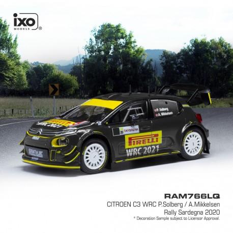 Citroen C3 WRC 21 Rallye de Sardaigne 2020 P. Solberg - A. Mikkelsen IXO RAM766