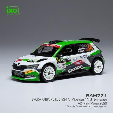 Skoda Fabia R5 Evo 34 Monza Rally 2020 A. Mikkelsen - A. Synnevaag IXO RAM771