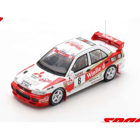 Mitsubishi Lancer Evolution III 8 Rallye SanRemo 1996 8ème Auriol - Giraudet Spark S6513