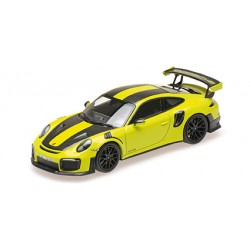 Porsche 911 991.2 GT2RS 2018 Green with Weissach Package with Golden Magnesium Wheels Minichamps 155068300