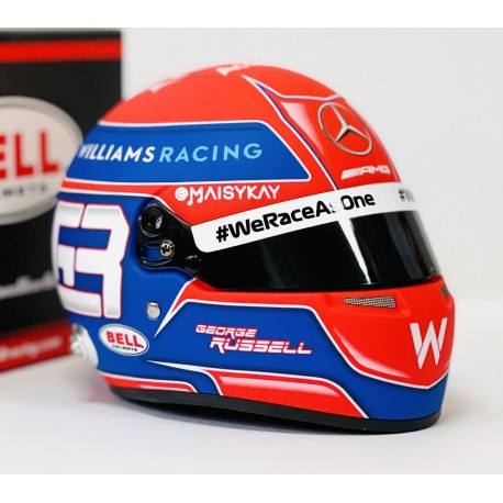 Casque Helmet 1/2 George Russell F1 2021 Bell
