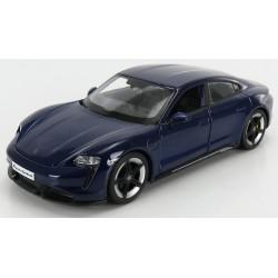 Porsche Taycan Turbo S Dark Blue Bburago BBU18-21098BLUE
