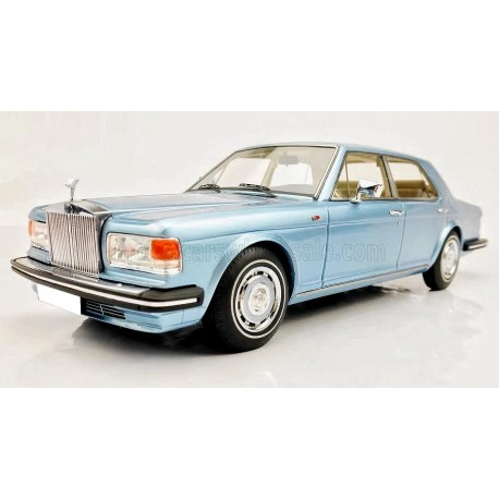 Rolls Royce Silver Spirit 1980 Light Blue Metallic MODELCARSWH 18000LB