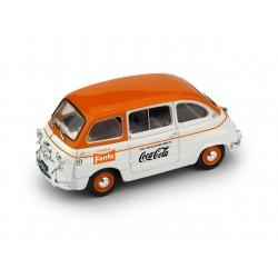 Fiat 600D Multipla Fanta - Coca Cola 1961 Orange White Brumm R648