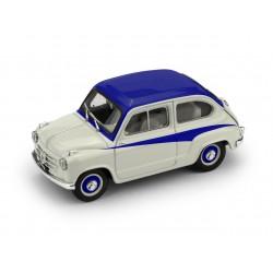 Fiat 600 750 Derivazione Abarth 1956 Grey Blue Brumm R645-02
