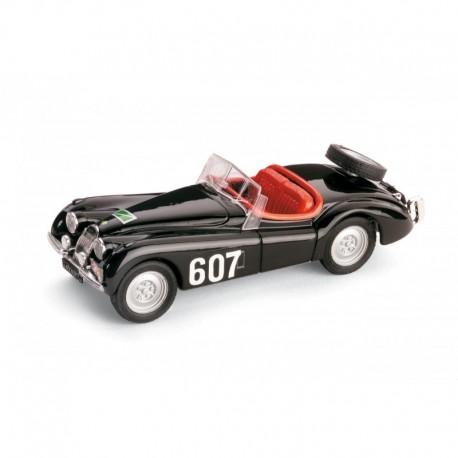 Jaguar XK120 Spider 607 Rallye des Alpes 1953 Escalier Auguste - Nahmens Jacques Brumm R164-UPD