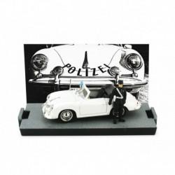Porsche 356 Cabriolet Swiss Police with Figurine 1952 White Brumm R198DF