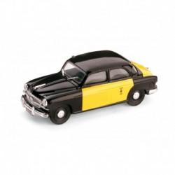 Fiat 1400B Taxi Barcelone 1956 Black Yellow Brumm R216B