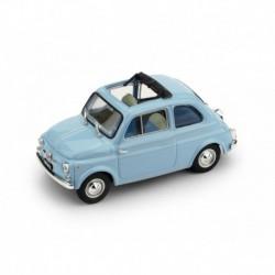 Fiat Nuova 500D Open 1960 Light Blue Brumm R404-14
