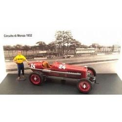 Alfa Romeo P3 24 Grand Prix de Formule 1 de Monza 1932 Tazio Nuvolari avec Pilote RIO 4360/P
