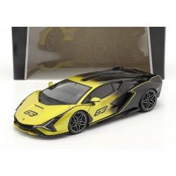 Lamborghini Sian FKP37 n 63 2020 Yellow and Black Bbugaro BBU18-11100YELLOW