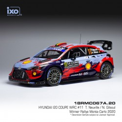 Hyundai I20 Coupe WRC 11 Rallye Monte Carlo 2020 Neuville - Gilsoul IXO 18RMC067A