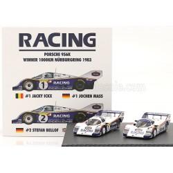 Porsche 956K Set 2x n1 n2 1000 Km du Nurburgring 1983 IXO W83430003
