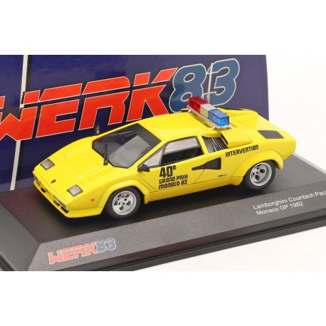 Lamborghini Countach Safety Car Formule 1 Monaco 1982 Minichamps W83430007