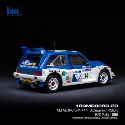 MG Metro 6R4 4 RAC Rally 1986 Pond - Arthur IXO 18RMC068C