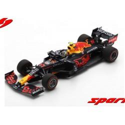Red Bull Honda RB16B 11 F1 Winner Azerbaijan 2021 Sergio Perez with pitboard Spark S7667