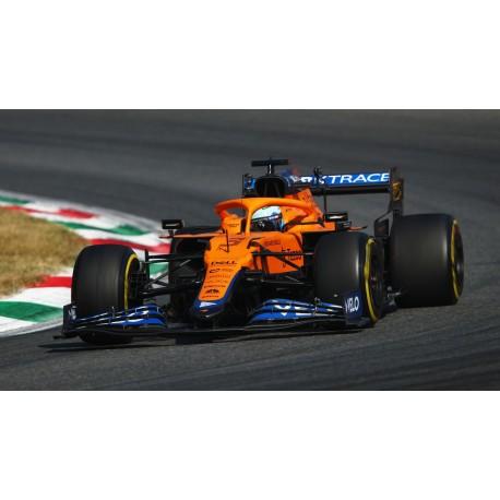 McLaren Mercedes MCL35M 3 F1 Winner Grand Prix d'Italie 2021 Daniel Ricciardo avec pitboard Spark 18S602