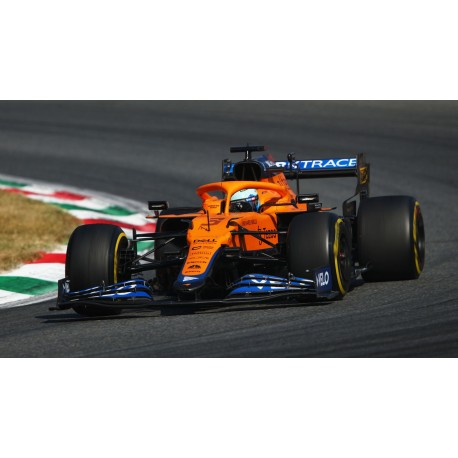 McLaren Mercedes MCL35M 3 F1 Winner Grand Prix d'Italie 2021 Daniel Ricciardo avec pitboard Spark S7689