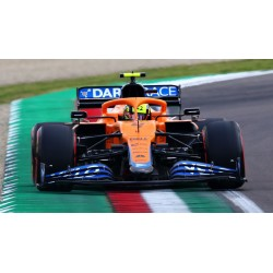 McLaren Mercedes MCL35M 4 F1 2ème Grand Prix d'Italie 2021 Lando Norris avec pitboard Spark S7690