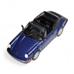Porsche 911 Carrera 2 Cabriolet Bleu Métalisée 1990 Minichamps 430067331