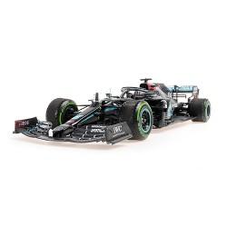 Mercedes F1 W11 44 F1 Winner Turquie World Champion 2020 Lewis Hamilton avec pneus usés et salissures Minichamps 110201444