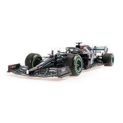 Mercedes F1 W11 44 F1 Winner Turquie World Champion 2020 Lewis Hamilton with used tyres and dirty effect Minichamps 110201444