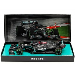 Mercedes F1 W11 44 F1 Winner Turquie World Champion 2020 Lewis Hamilton with used tyres and dirty effect Minichamps 113201444