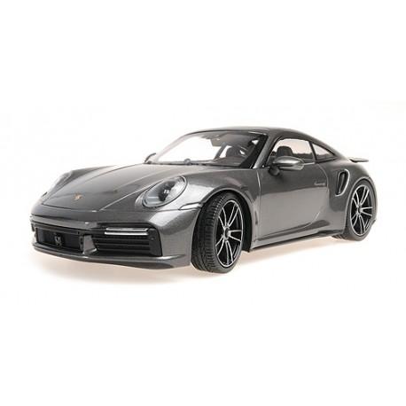 Porsche 911 Type 992 Turbo S 2020 Grey Metallic Minichamps 155069072