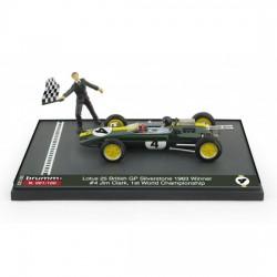 Lotus 25 4 F1 World Champion Winner Grand Prix d'Angleterre 1963 Jim Clark Brumm S2105BR
