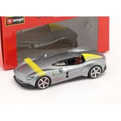 Ferrari Monza SP1 Silver Yellow Bburago BBU18-36046