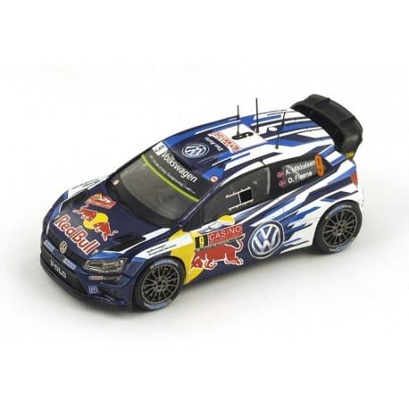 Volkswagen Polo R WRC 9 Rallye Monte Carlo 2015 Mikkelsen Floene Spark S4507