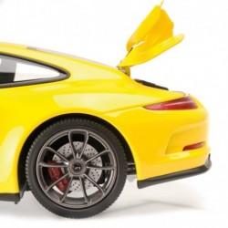 Porsche 991 GT3 2013 Jaune Silver Wheels Minichamps 110062722